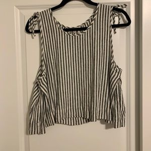 madewell cropped striped tank top